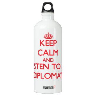 Keep Calm and Listen to a Diplomat SIGG Traveler 1.0L Water Bottle