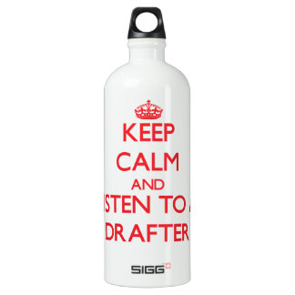 Keep Calm and Listen to a Drafter SIGG Traveler 1.0L Water Bottle