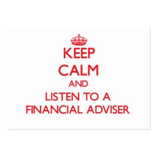 Keep Calm and Listen to a Financial Adviser Business Card