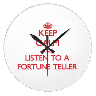 Keep Calm and Listen to a Fortune Teller Wallclocks