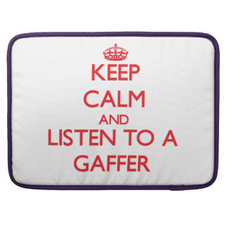 Keep Calm and Listen to a Gaffer MacBook Pro Sleeves