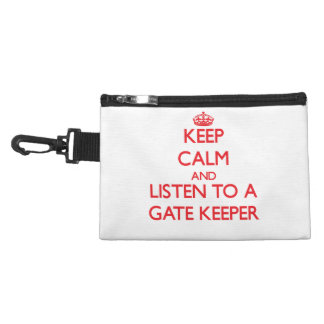 Keep Calm and Listen to a Gate Keeper Accessories Bag