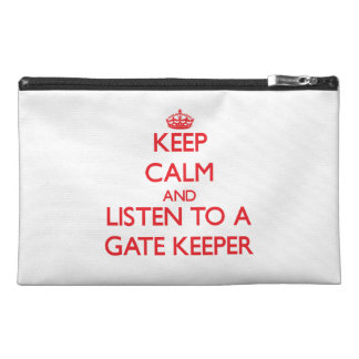 Keep Calm and Listen to a Gate Keeper Travel Accessory Bag