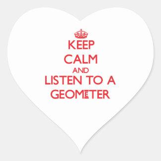 Keep Calm and Listen to a Geometer Heart Sticker