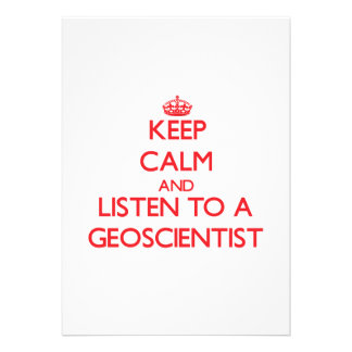 Keep Calm and Listen to a Geoscientist Personalized Announcement