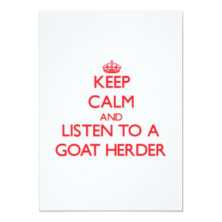 Keep Calm and Listen to a Goat Herder Personalized Invitations