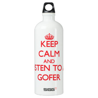 Keep Calm and Listen to a Gofer SIGG Traveler 1.0L Water Bottle