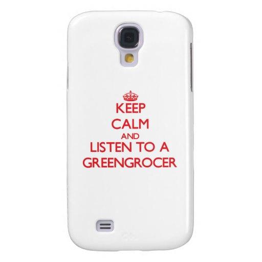 Keep Calm and Listen to a Greengrocer HTC Vivid / Raider 4G Case