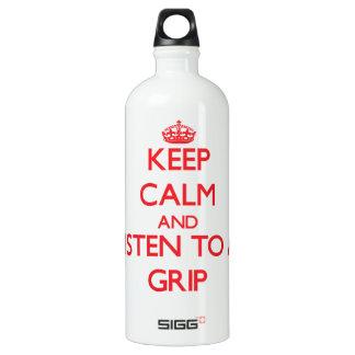 Keep Calm and Listen to a Grip SIGG Traveler 1.0L Water Bottle