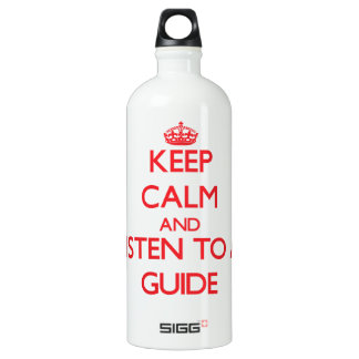 Keep Calm and Listen to a Guide SIGG Traveler 1.0L Water Bottle
