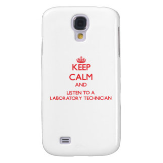 Keep Calm and Listen to a Laboratory Technician HTC Vivid Cases