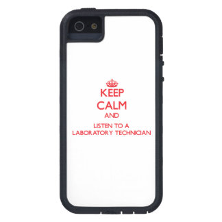 Keep Calm and Listen to a Laboratory Technician Case For iPhone 5/5S