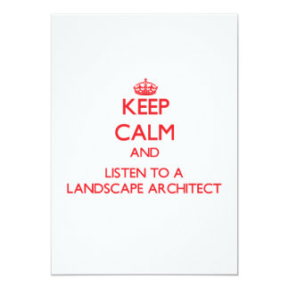 Keep Calm and Listen to a Landscape Architect Announcements