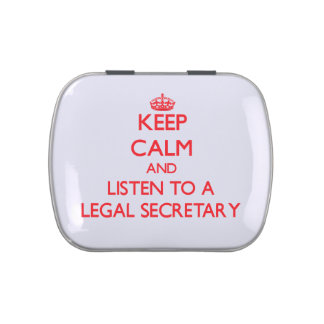 Keep Calm and Listen to a Legal Secretary Candy Tins