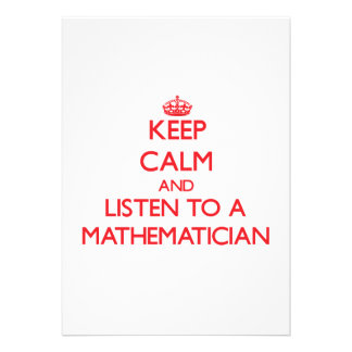 Keep Calm and Listen to a Maamatician Invitations