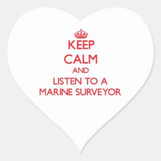 Keep Calm and Listen to a Marine Surveyor Sticker