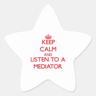 Keep Calm and Listen to a Mediator Sticker