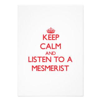 Keep Calm and Listen to a Mesmerist Custom Invitations