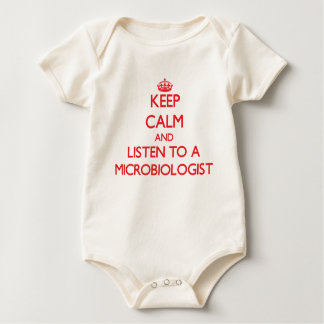 Keep Calm and Listen to a Microbiologist Baby Bodysuits