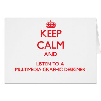 Keep Calm and Listen to a Multimedia Graphic Desig Greeting Cards
