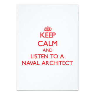 Keep Calm and Listen to a Naval Architect Invitation