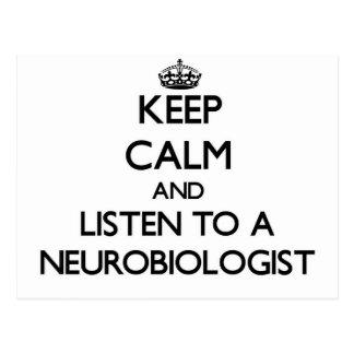 Keep Calm and Listen to a Neurobiologist Postcards