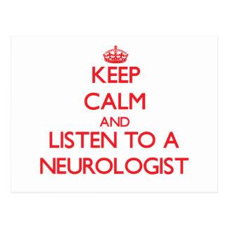 Keep Calm and Listen to a Neurologist Post Cards