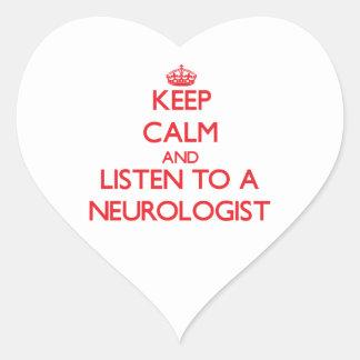Keep Calm and Listen to a Neurologist Sticker