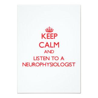 Keep Calm and Listen to a Neurophysiologist Custom Invitation
