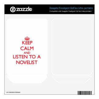 Keep Calm and Listen to a Novelist FreeAgent GoFlex Skin