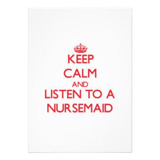 Keep Calm and Listen to a Nursemaid Invite