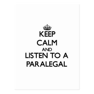Keep Calm and Listen to a Paralegal Postcard