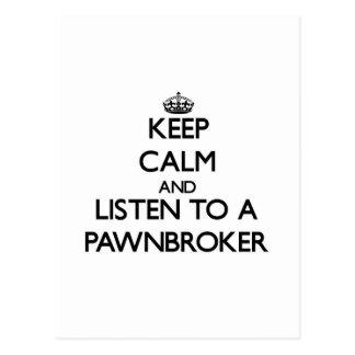 Keep Calm and Listen to a Pawnbroker Postcard