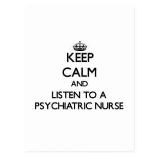 Keep Calm and Listen to a Psychiatric Nurse Postcard
