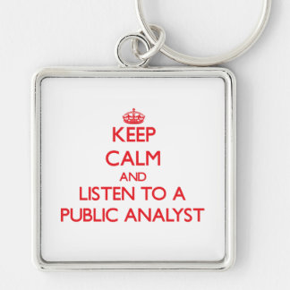 Keep Calm and Listen to a Public Analyst Key Chain