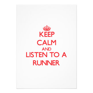 Keep Calm and Listen to a Runner Cards