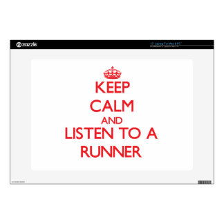 """Keep Calm and Listen to a Runner Decal For 15"""" Laptop"""