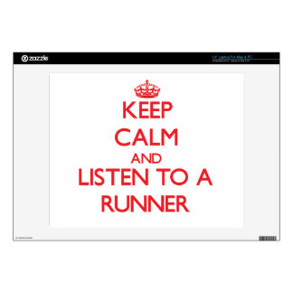 """Keep Calm and Listen to a Runner Decal For 14"""" Laptop"""