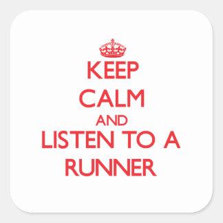 Keep Calm and Listen to a Runner Sticker