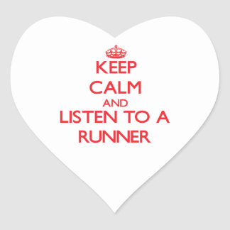 Keep Calm and Listen to a Runner Stickers