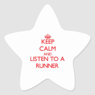 Keep Calm and Listen to a Runner Star Stickers