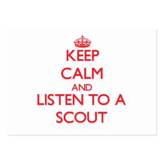 Keep Calm and Listen to a Scout Business Card Template