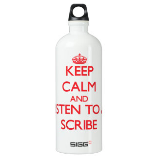 Keep Calm and Listen to a Scribe SIGG Traveler 1.0L Water Bottle