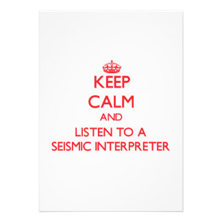 Keep Calm and Listen to a Seismic Interpreter Card