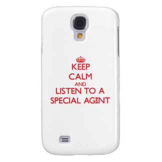 Keep Calm and Listen to a Special Agent HTC Vivid Case