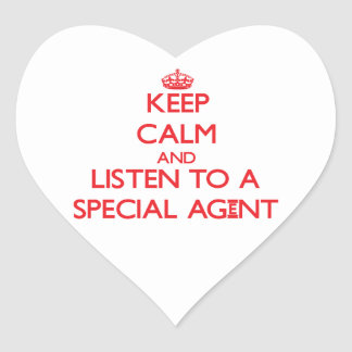 Keep Calm and Listen to a Special Agent Stickers