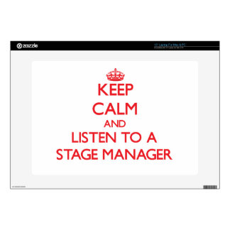 Keep Calm and Listen to a Stage Manager Laptop Skins