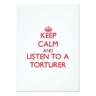 Keep Calm and Listen to a Torturer Announcement