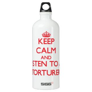 Keep Calm and Listen to a Torturer SIGG Traveler 1.0L Water Bottle
