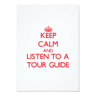 Keep Calm and Listen to a Tour Guide Personalized Announcements